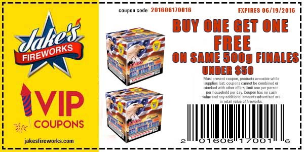 buy one get one firework coupon - finale