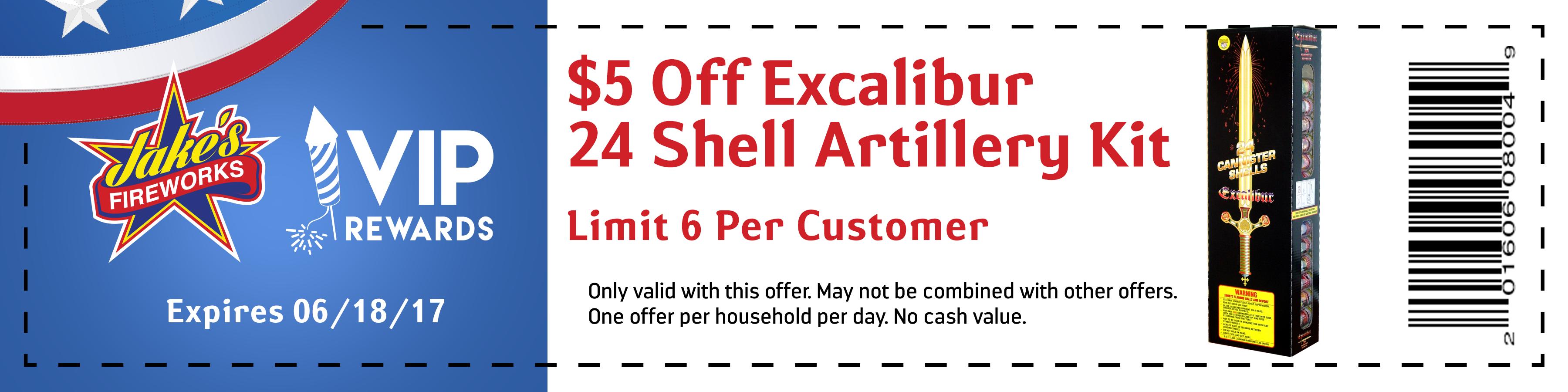 excalibur fireworks coupon