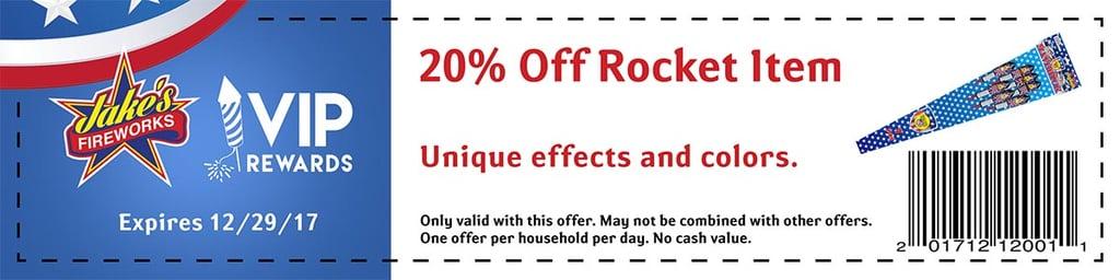 rocket fireworks coupon