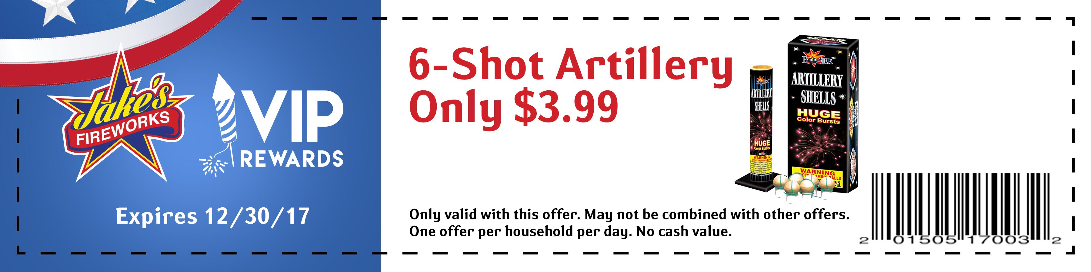 artillery firework coupon