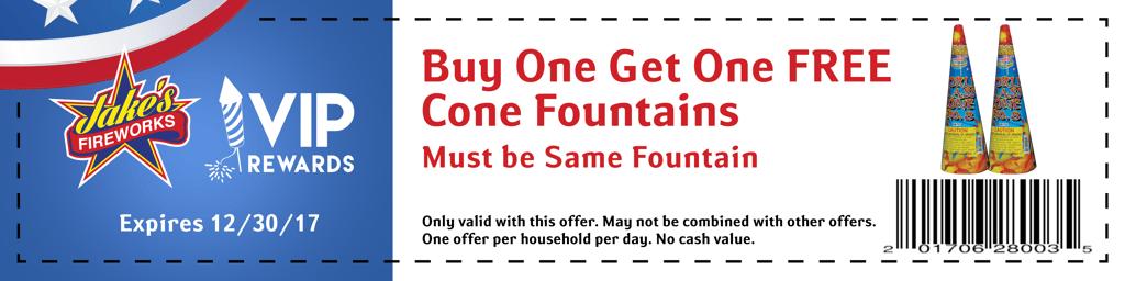 cone fountain coupon