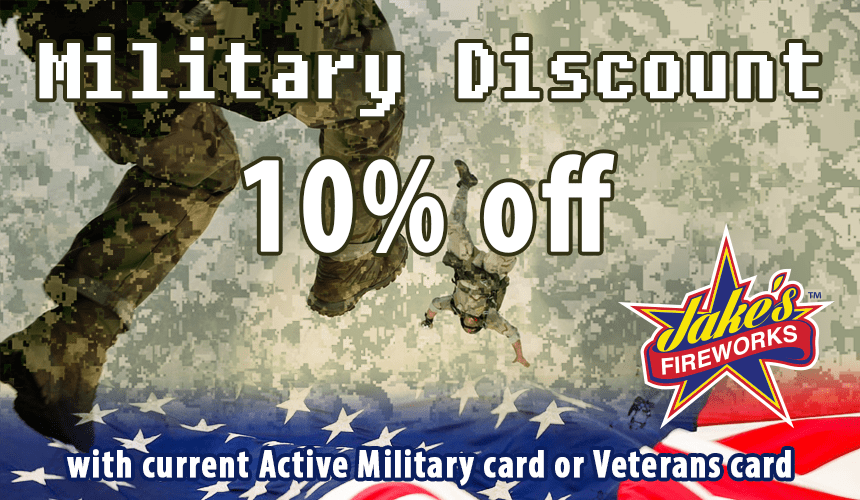 military discount fireworks