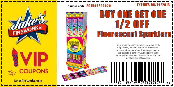 buy one get one firework soarkler coupon