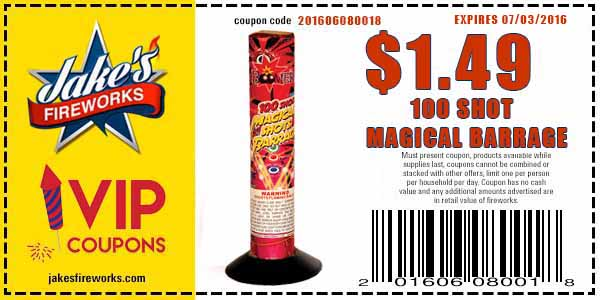 Save on 2 Classic Fireworks - Sparklers and 100 Magical Barrage