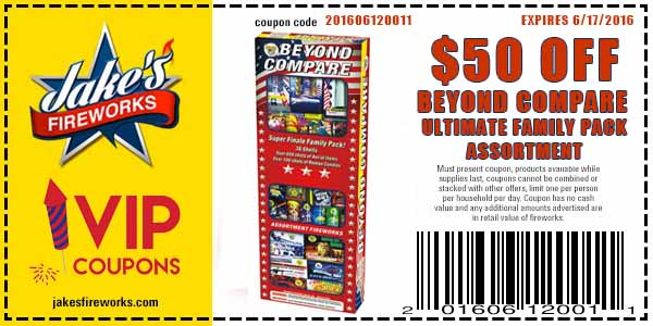 Pre-Father's Day Firework Coupons