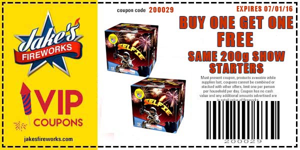 Buy One Get One Free 200g Show Starters and Alien Fountain only $5.99
