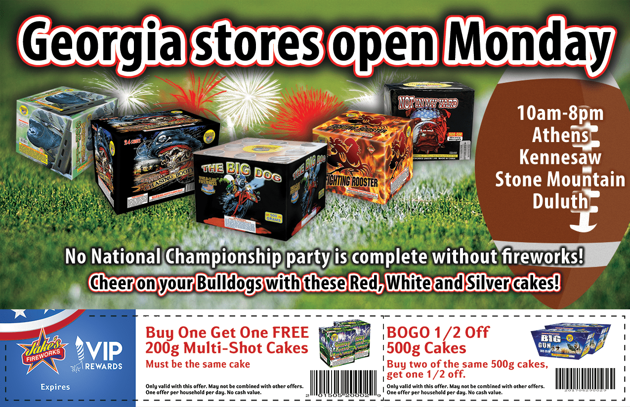 Get Red & White Fireworks For The Big Game!