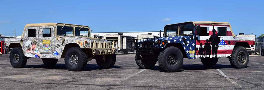 Folds Of Honor Hummer Tour and Firework Sale