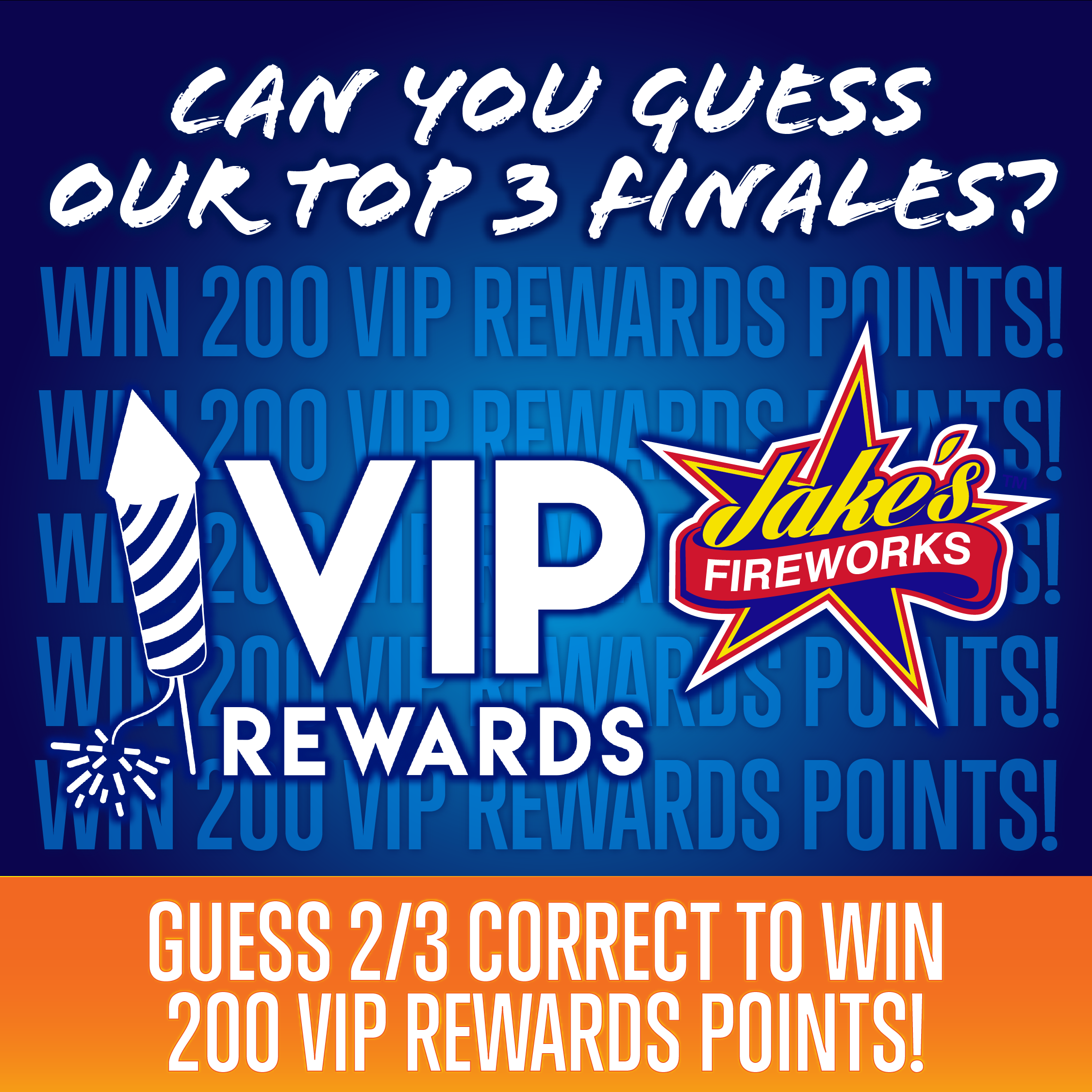 Guess 2/3 Correct and WIN 200 VIP Rewards Points!
