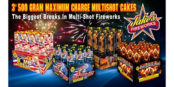 Maximum Charge Multi-Shot Fireworks