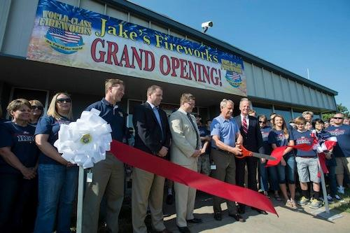 New Jake's HQ ribbon-cutting