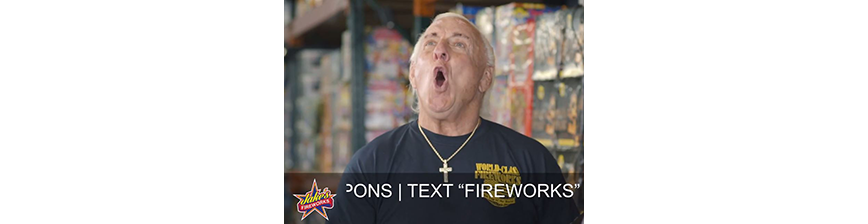 Jake's Fireworks Teams Up With Ric Flair - WOOOOO!